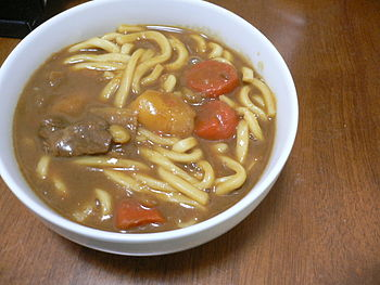 curry and japanese noodle
