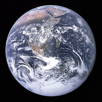 The Earth seen from Apollo 17.