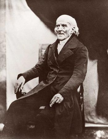 English: Daguerreotype of Samuel Hahnemann, fo...