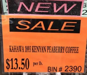 Kahawa 1893 Peaberry coffee sale